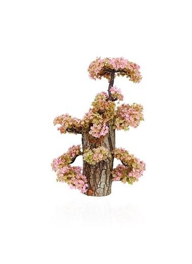 Çiçekmisin Uzun Kütükte Minyatür Yapay Ağaç Pembe